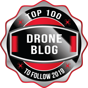 Top 100 Drone Blog 2019 Award Badge